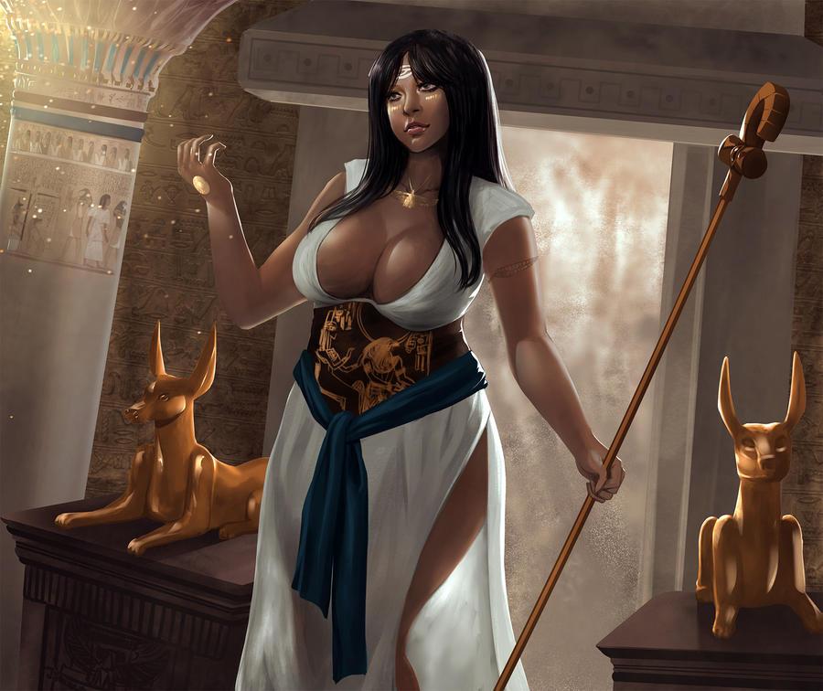 Egyptian Goddess by UlielArt