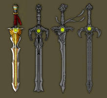 Googly-eyed swords by BluntieDK