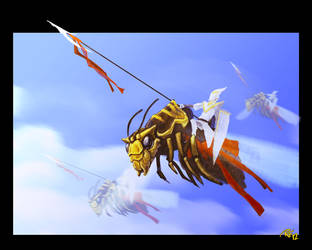 Day02: Elven Wasp-rider by BluntieDK