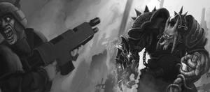 WH40K - Chaos Marine - WIP