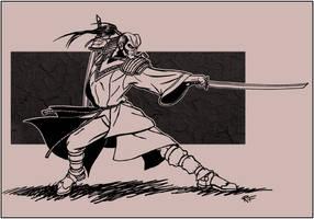 Samurai ninja kung fu dude by BluntieDK