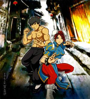 Chun Li and Fei Long
