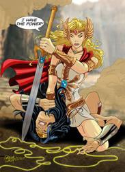 She-Ra vs Wonder Woman by PatMW1983