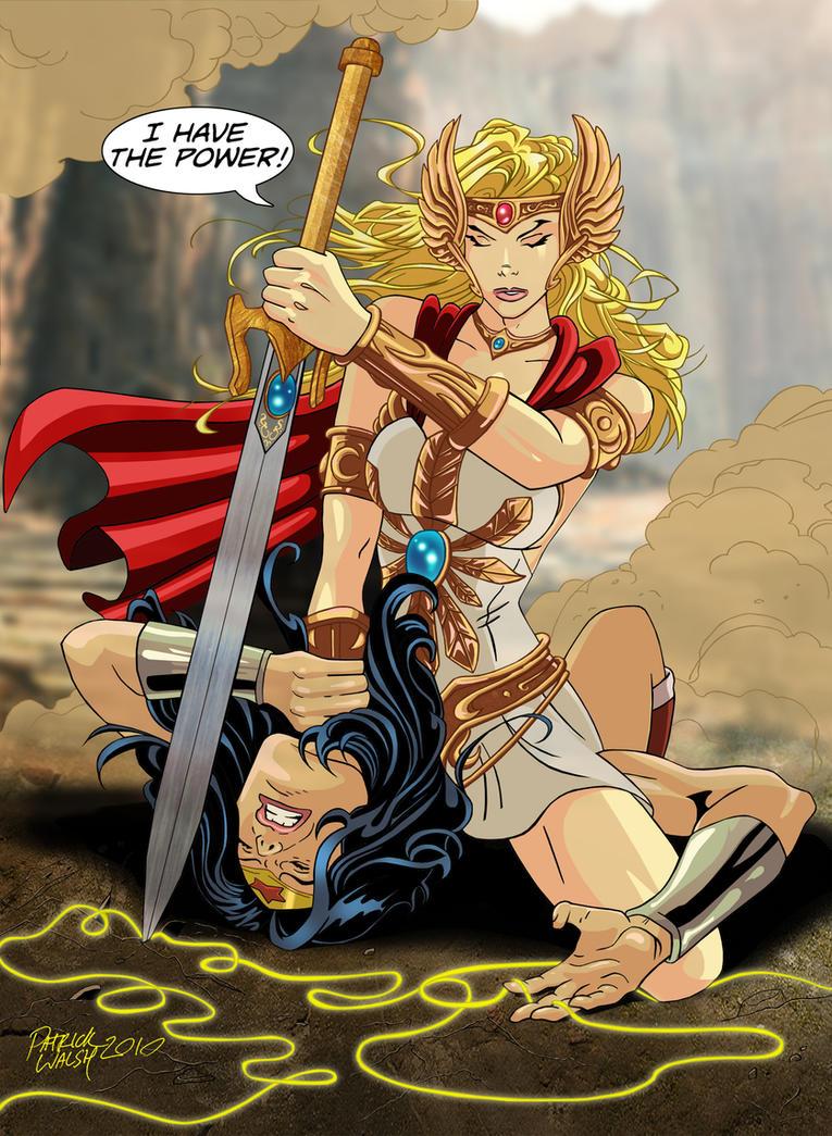 She-Ra vs Wonder Woman by PatMichael