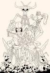 Skeletor line art WIP by PatMW1983