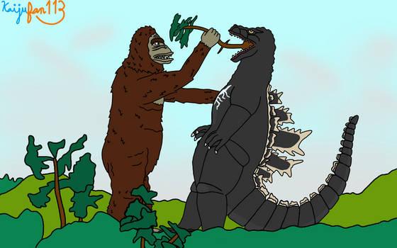 King Kong VS Godzilla Eat Your Vegetables