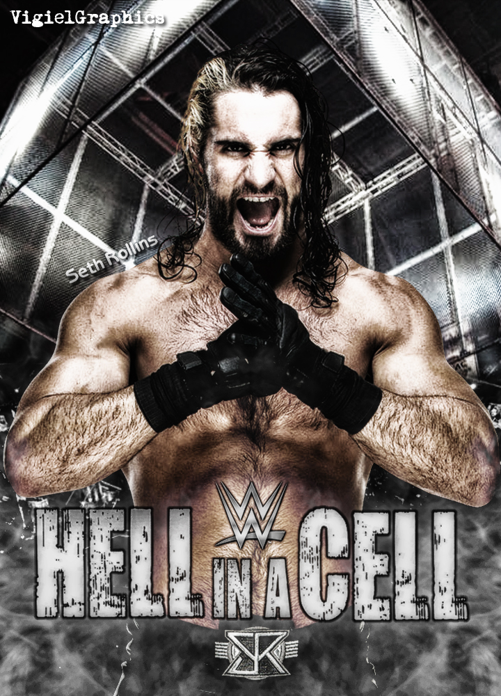 WWE Hell in a Cell 2015 Poster by VigielGraphics by vigielgraphics
