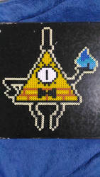Bill Cipher perler bead (2) by Kirblink
