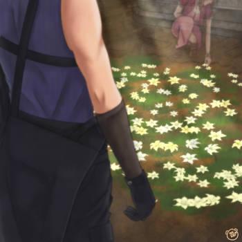 flowers blooming in the church by Pan-kuzu