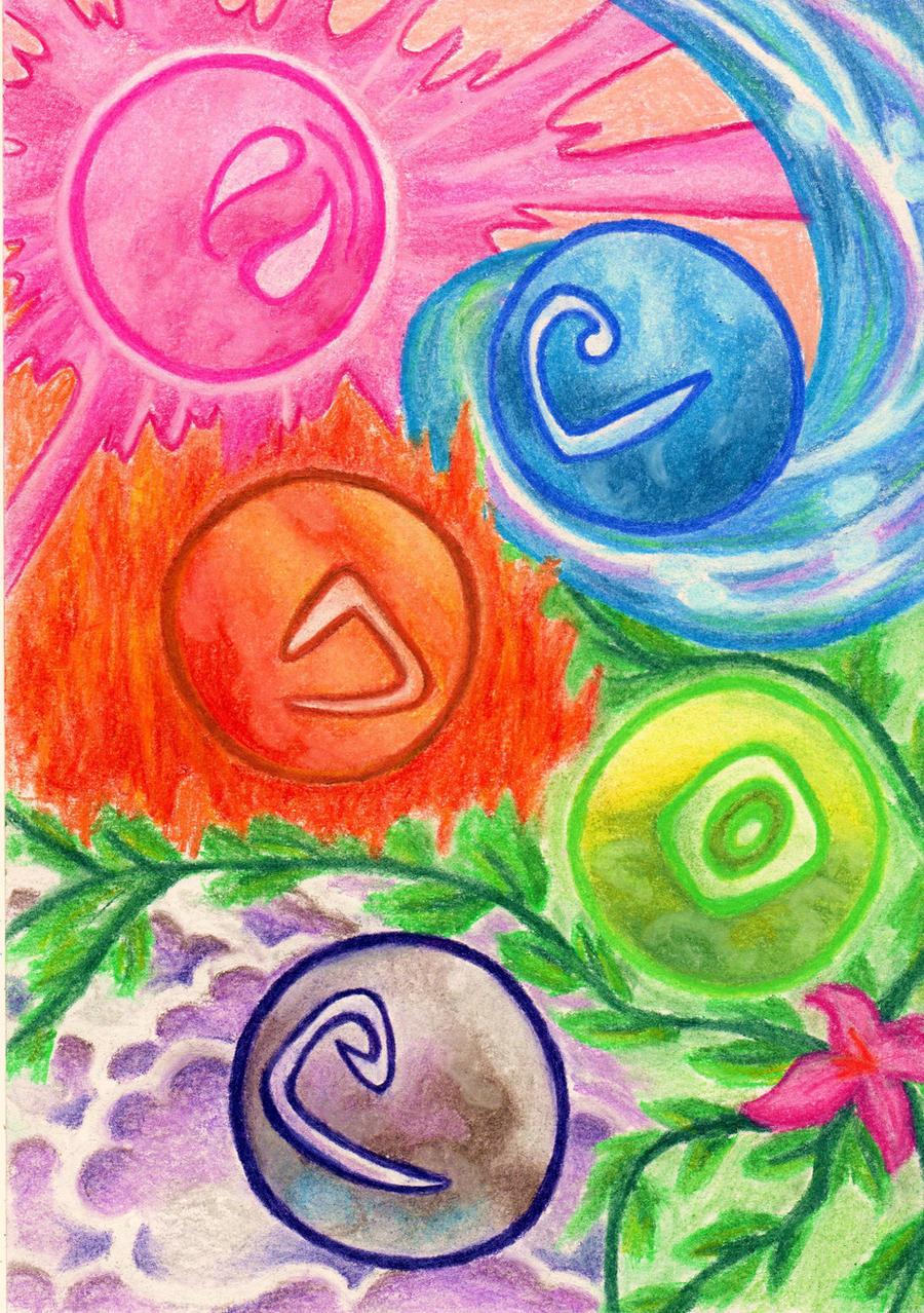Five Elements Art : The five elements by eviethelion on deviantart