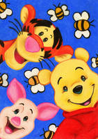 Winnie, Piglet and Tigger by Eviethelion