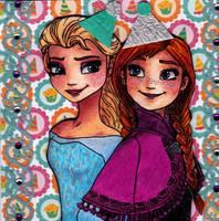 Birthdaycard Frozen by Eviethelion