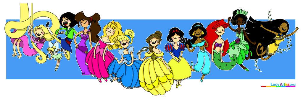 Adventure Princesses 02 by myleafyentrails