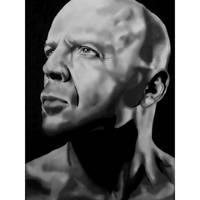 Bruce Willis portrait drawing