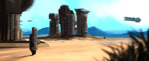 Desert Mining Station by JamesLedgerConcepts