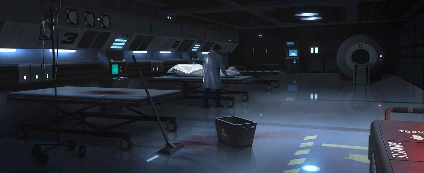 Medical Bay by JamesLedgerConcepts