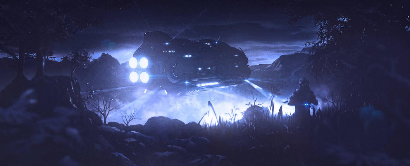 Jungle Landing by JamesLedgerConcepts