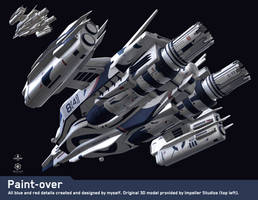 Paintover - Hyperion underside by JamesLedgerConcepts