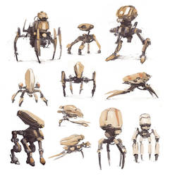 Walking Drone sketches