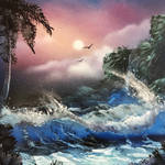 Wave - Spray paint art