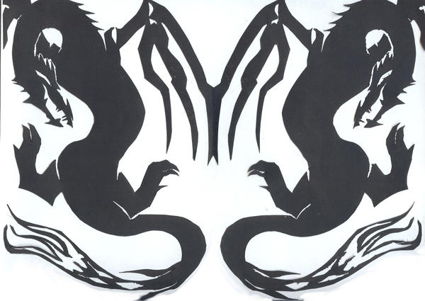 Dragon cutout by artistic mouse on deviantart for Dragon cutout template