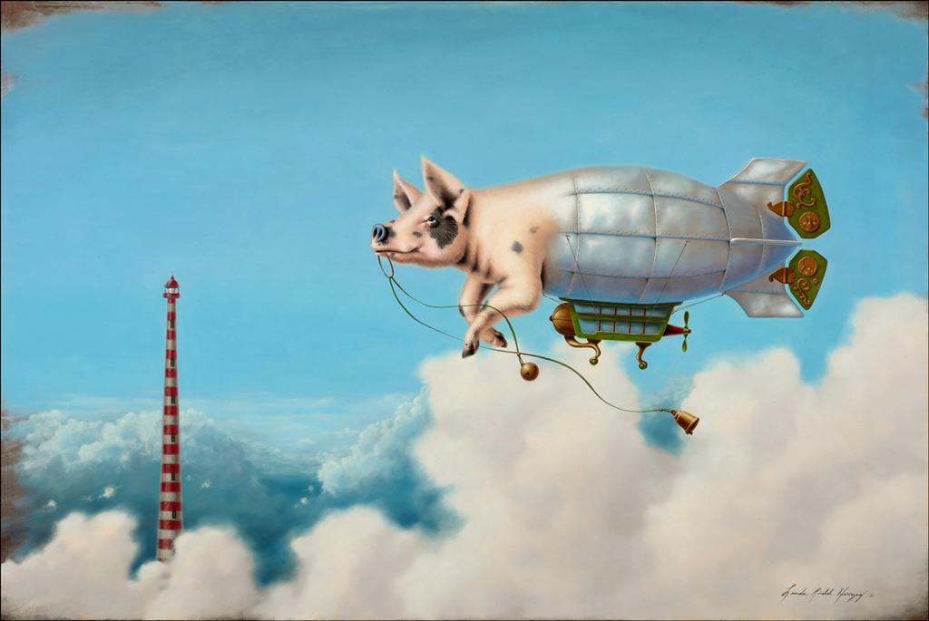 Pig Blimp by LindaRHerzog