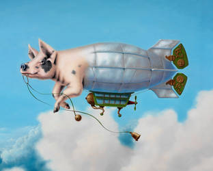 Pig Blimp - detail by LindaRHerzog