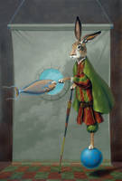 The Rabbit Knows Nose by LindaRHerzog