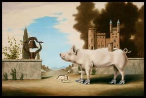 Splendid Pig House Stroll by LindaRHerzog
