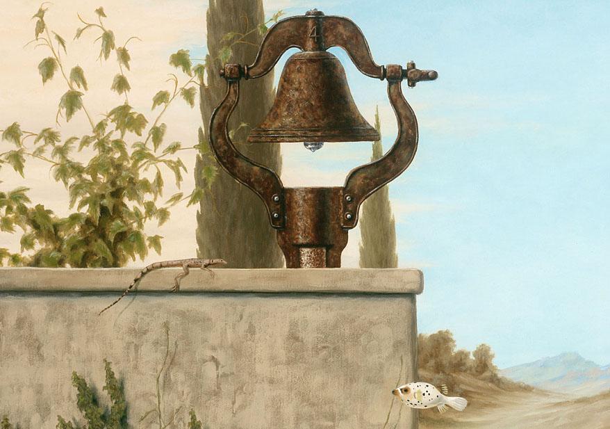 Splendid Pig House Stroll - detail bell by LindaRHerzog
