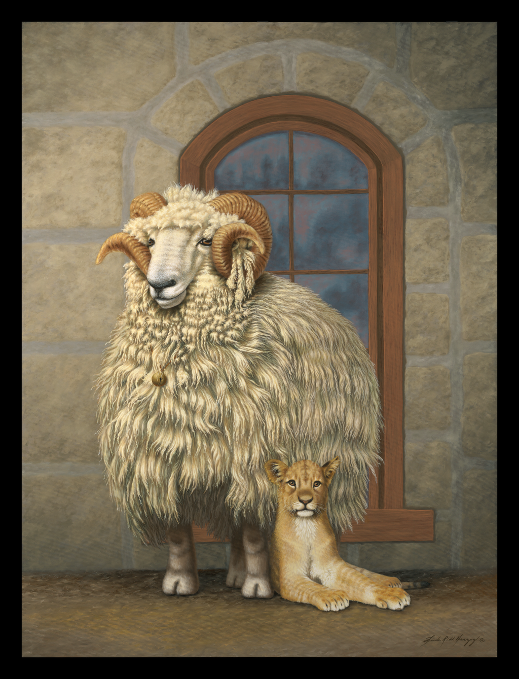 The Sheep And The Cub by LindaRHerzog
