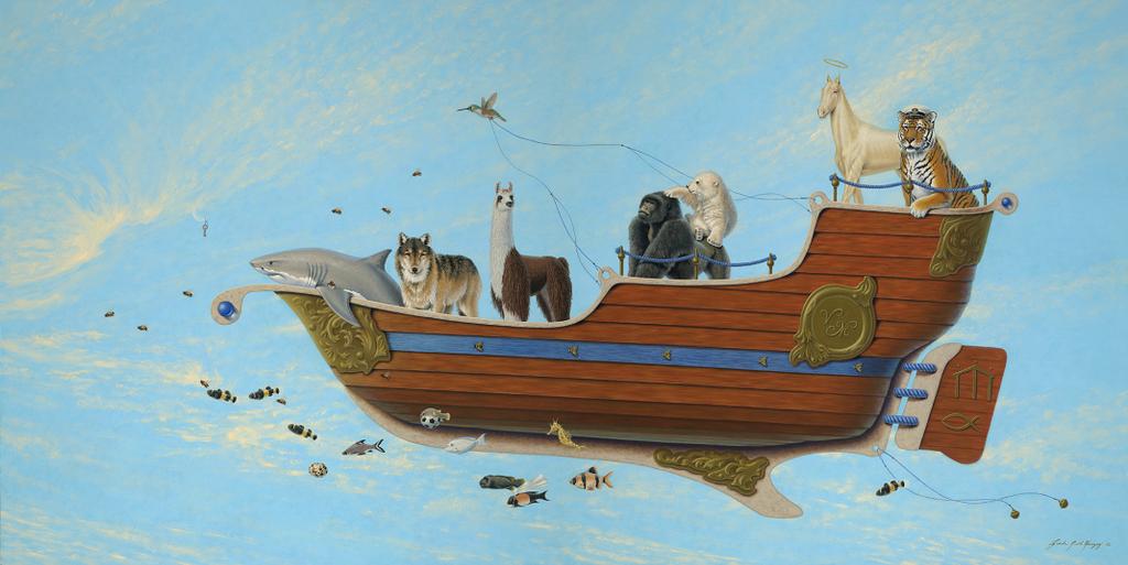 V M Boat  3' x 6' by LindaRHerzog