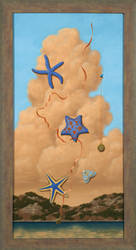 Stars In The Sky  -  30 x 15  oil on canvas by LindaRHerzog