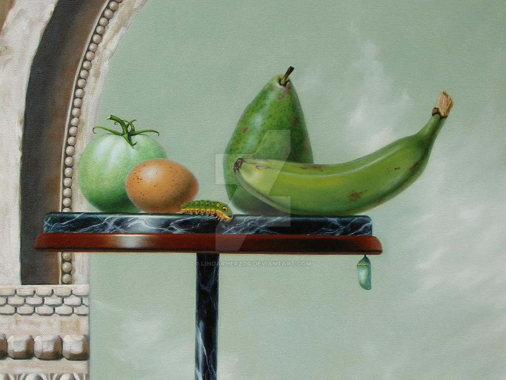 Not Ripe Yet - detail by LindaRHerzog