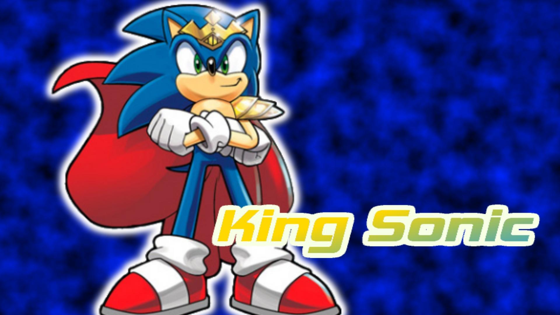 king sonic wallpaperbluespeed360 on deviantart