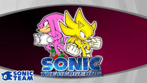 Super Sonic and Hyper Knuckles Wallpaper