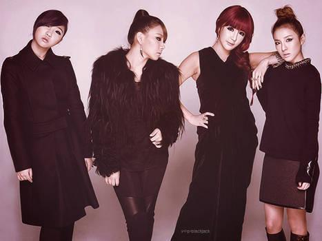 2NE1 IN BLACK
