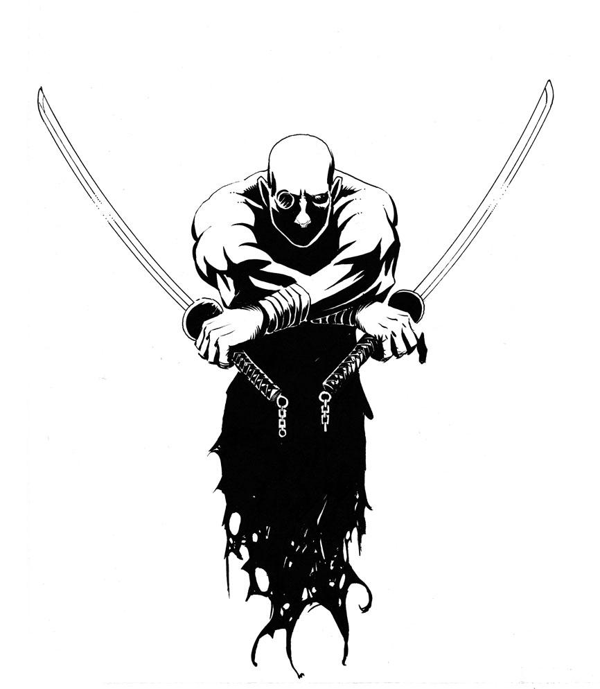 how to draw a cartoon samurai
