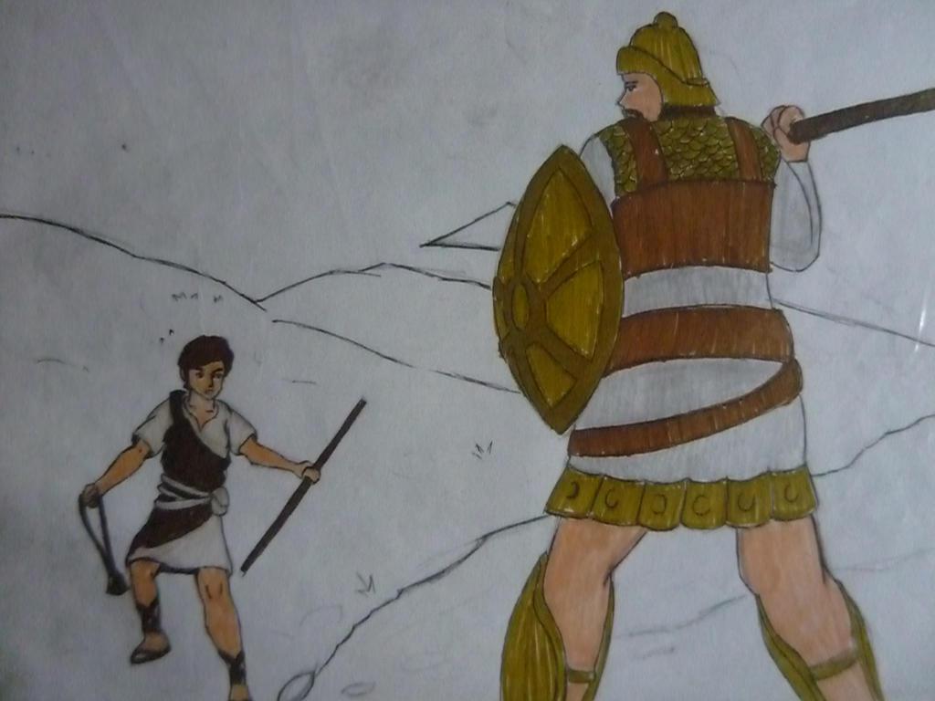 david and goliath by kuyamari on deviantart