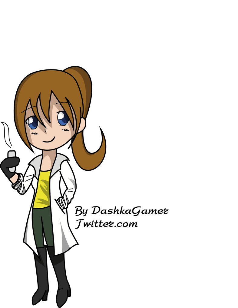 Chibi Scientist by Volldagora on DeviantArt