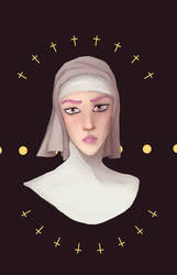 Hot Pants As A Nun Becasue She Is Great And Idgjes by abst-rakd