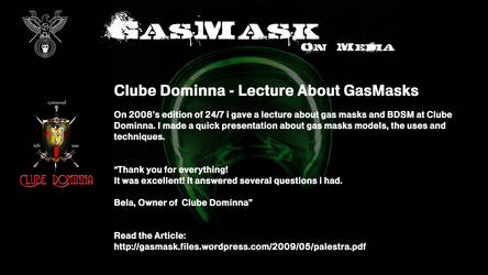 2008 - Dominna - Lecture About GasMask