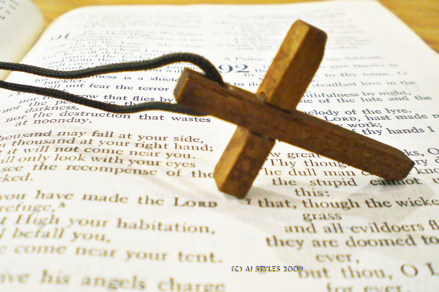 Cross and Bible 1 by BigPappaSmurf666