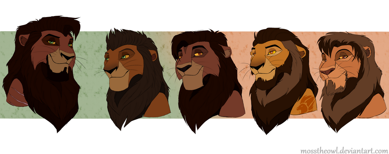 King Kovu and His Sons by MossTheOwl