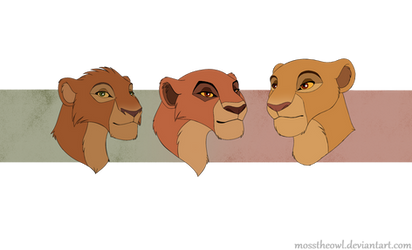 Queen Kiara and Her Daughters by MossTheOwl