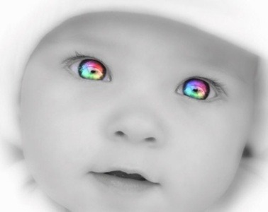 Colorful Baby Eyes by MarieCrazyDove