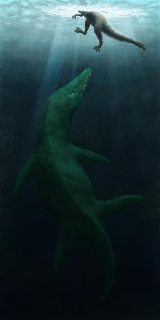 Liopleurodon Under the Ice by JuulRex