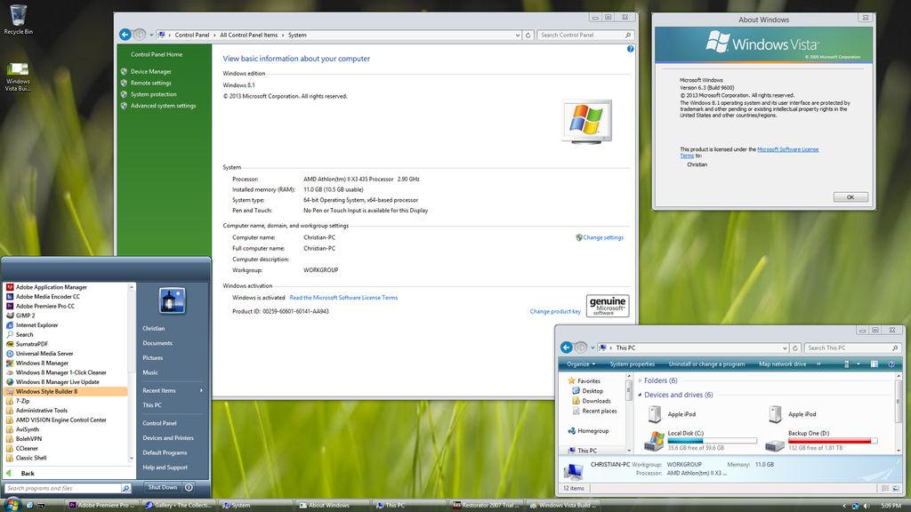 Windows 8 1 (Vista Build 5259 Beta Theme) by BakuChris on DeviantArt