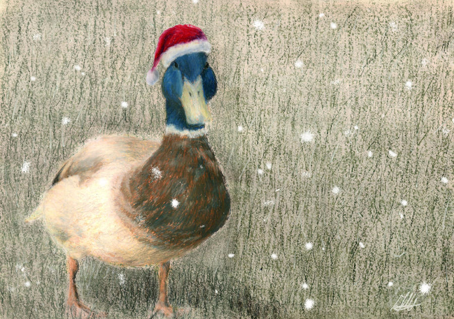 christmas duck by inkyfish - Christmas Duck