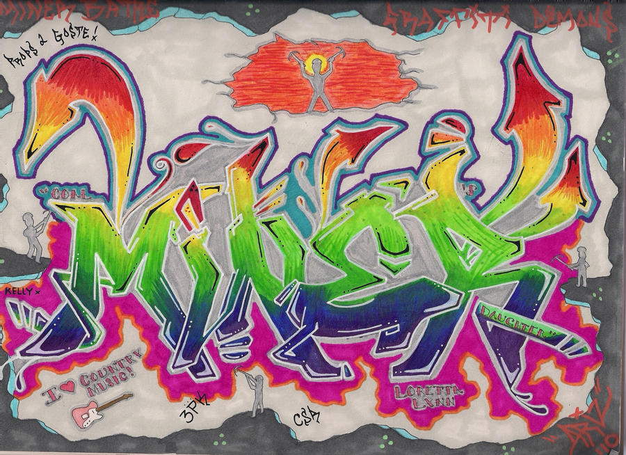 Graffiti Alphabet Demons with Miner Font